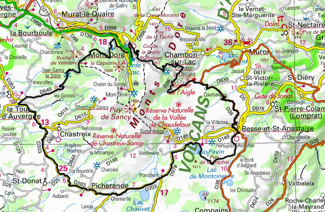 Tour du massif du sancy